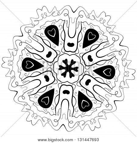 Coloring Book Mandala. Outline mandala. Line mandala isolated mandala. Page mandala intricate mandala. Vector mandala. Mandala design. Black mandala. Flourish mandala