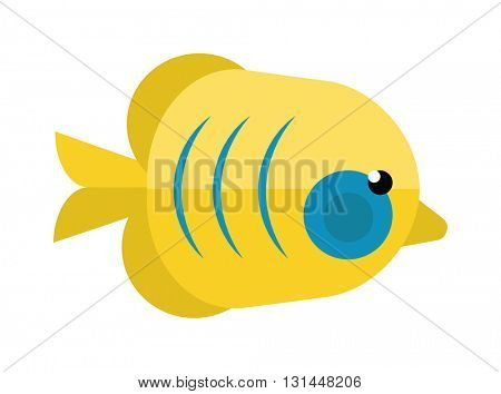 Reefs fish vector illustration.