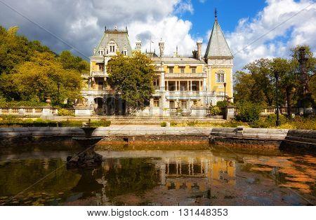Palace of the emperor Alexander III in Massandra Crimea