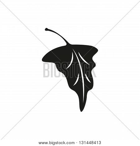 Simple black grape leaf vector illustration isolated on white background. Elements for company print products page and web decor. Vector illustration.