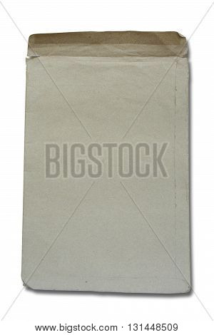 Brown envelope isolated on white color background