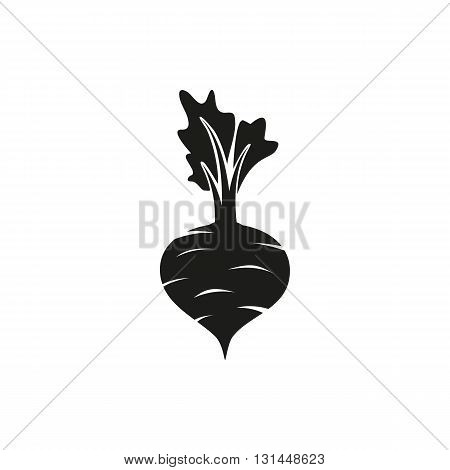 Simple black Beet vector illustration isolated on white background. Elements for company print products page and web decor. Vector illustration.