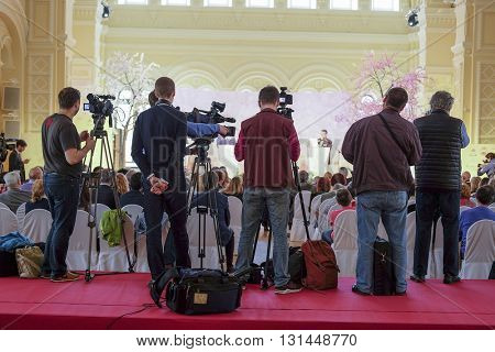 journalists on the press conference