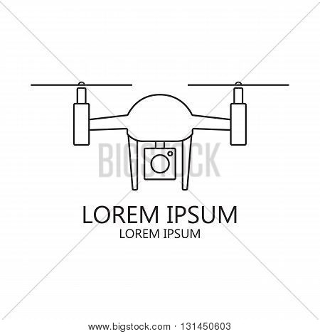 Modern innovation and technology illustration. Drone technology design - vector illustration of a drone