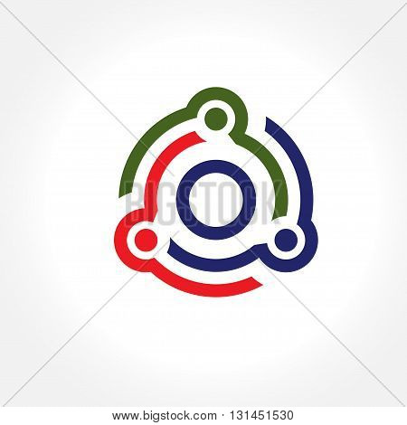 technology idea mind connection and business connection structure mind, network system vector illustration