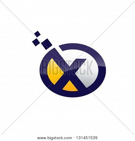 Business corporate letter X logo design vector.