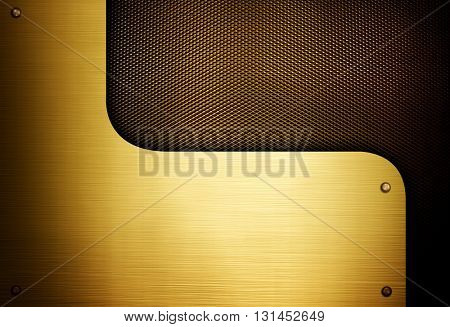 gold metal design background