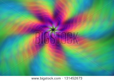 Rainbow swirl. Abstract blurred background. Creative fractal design for greeting cards or t-shirts.