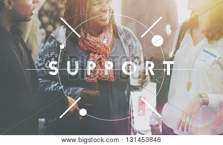 Support Advice Assistance Coaching Community Concept