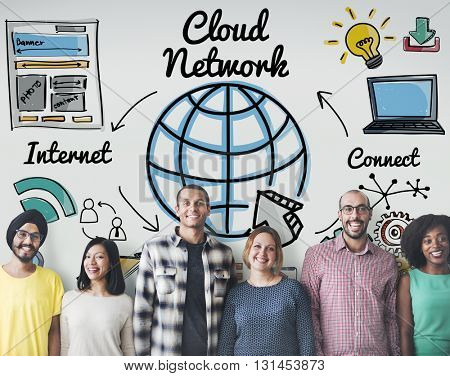 Cloud Network Communication Connection Globalization Concept