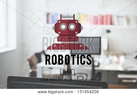 Robotics Machinery Instrument Technology Concept