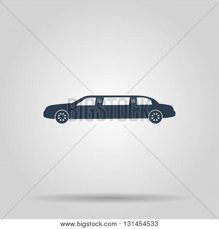 Limousine icon. Vector concept illustration for design