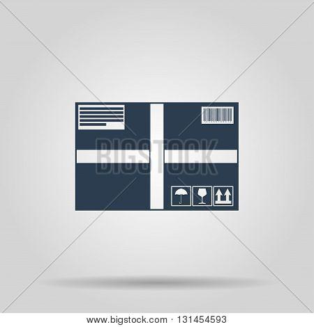 Box icon. Vector concept illustration for design.