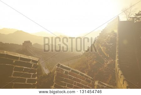 The Great Wall of China History Concept