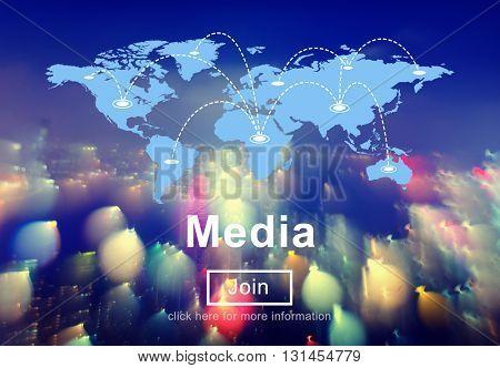 Media Communication Information Internet Social Concept