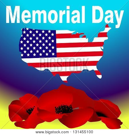 Memorial day USA holiday in honor of the dead