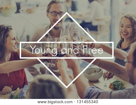 Live Your Life Freedom Modern Life Young and Free Concept