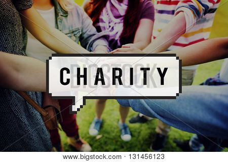 Charity Relief Donation Assistance Help Volunteer Concept