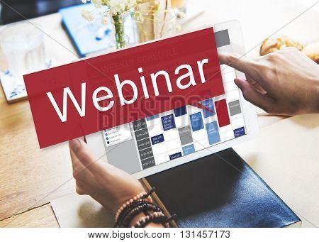 Webinar Website Online Internet Netwotking Concept
