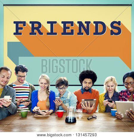 Friends Friendship Enjoyment Group Young Concept
