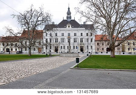 Old Town Hall, town Valtice, Czech Republic, Europe