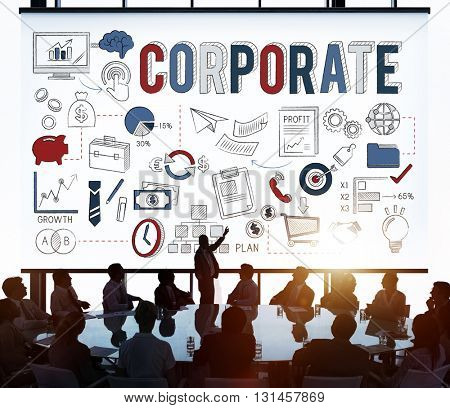 Corporate Business Professional Finance Concept