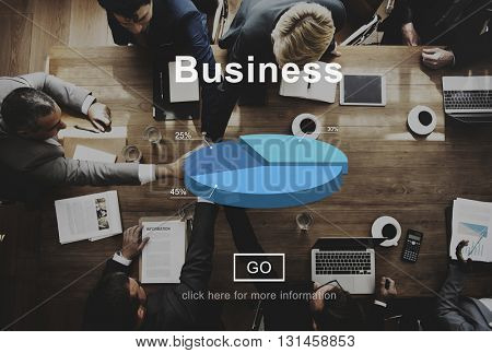 Business Pie Chart Corporate Business Concept