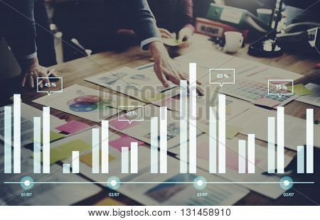 Statistic Analysis Business Diagram Data Growth Concept