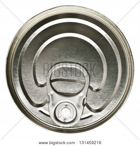 A tin can for canned food conservation - isolated over white background