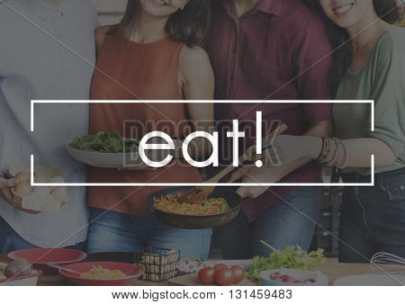 Eat Delicious Food Party Celebration Concept