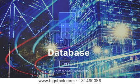 Database Online Technology Website Storage Concept