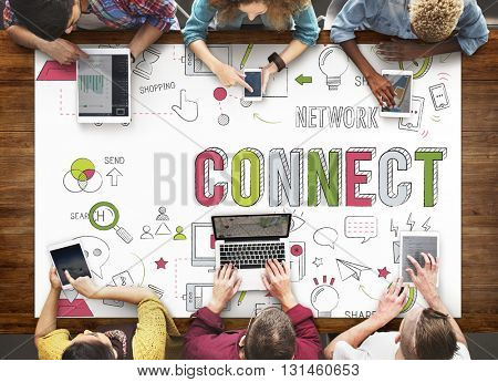 Connect Connection Browsing Internet Networking Concept