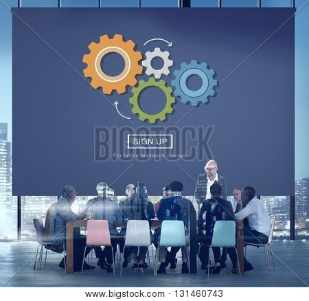 Process Think Collaboration Cog Mechanism Concept