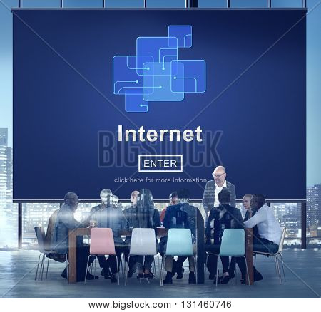 Internet Connection Digital Business Concept