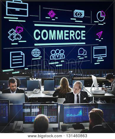 Commerce Customer Exchange Retail Service Concept