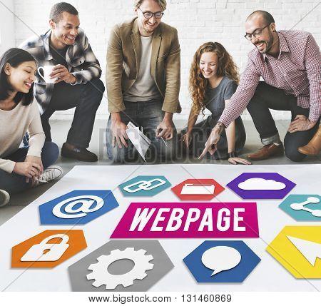 Webpage Start up Development Connection Concept