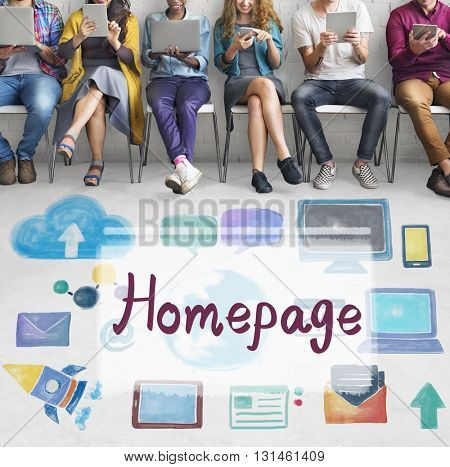Homepage Website Internet Online Technology Concept