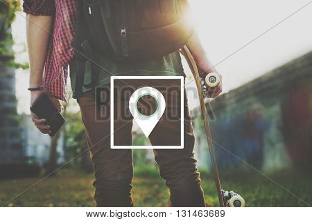 Location Travel Destination Graphic Concept