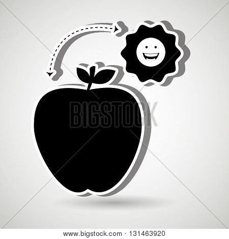 Healthy habits design, vector illustration eps10 graphic