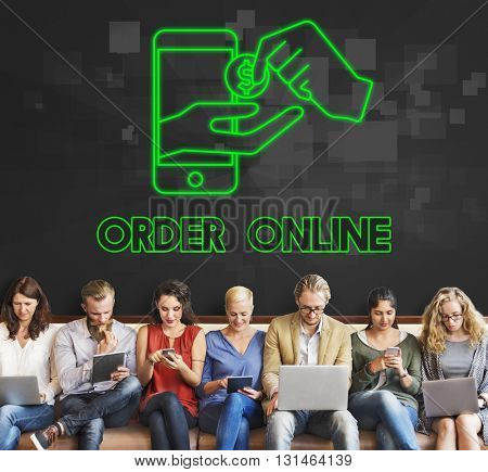 E-commerce Order Online digital device Concept