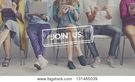 Join Us Membership Team Register Application Concept