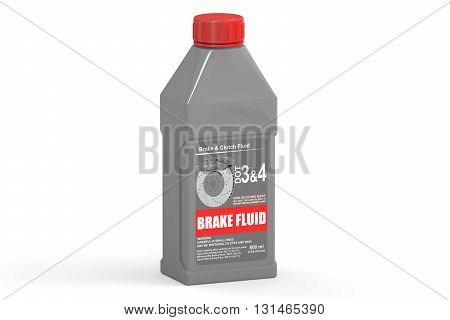 Brake Fluid 3D rendering isolated on white background