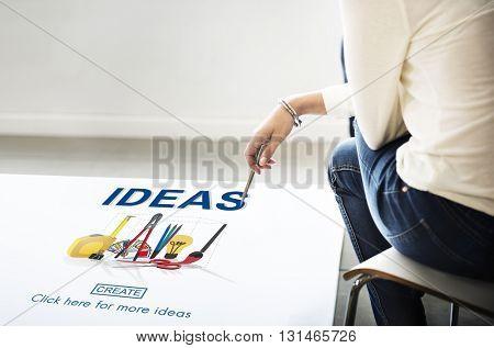 Ideas Craft Tools Equipment Work Concept