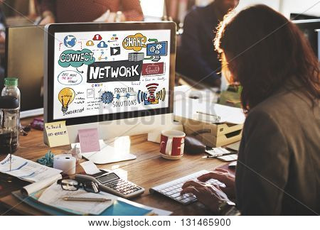 Network onnection Technology Digital Modern Concept