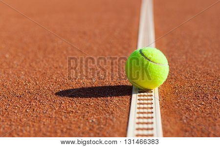 Tennis. Championship. Tennis ball on the clay courts