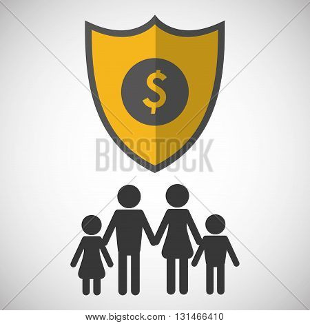 Insurance concept with icon design, vector illustration 10 eps graphic.