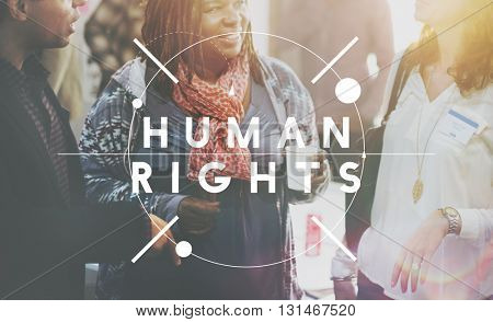 Human Rights Equality Law Legal Justice Judgment Concept