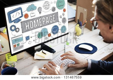 Homepage Domain HTML Web Design Concept