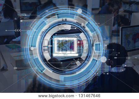 Computer Digital Technology Network Hardware Concept