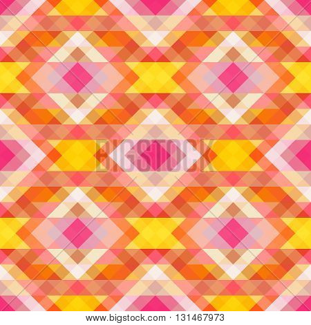 Bright symmetric background from triangles. Vector. You can make a seamless background.